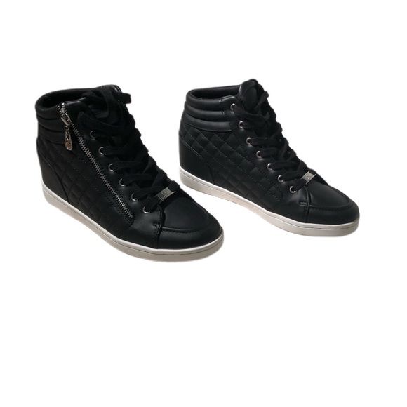 Guess Shoes | Black High Tops Size 95